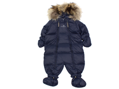 Ver de Terre baby winter suit down navy